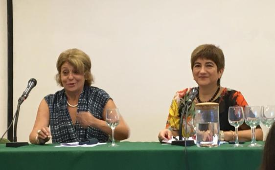 Maruxa Duart, junto a Jessica Ramírez
