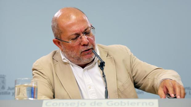 Francisco Igea, en el Consejo de Gobierno de Castilla y León celebrado este jueves