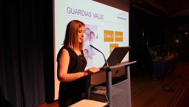 Elisa García, durante una de sus presentaciones