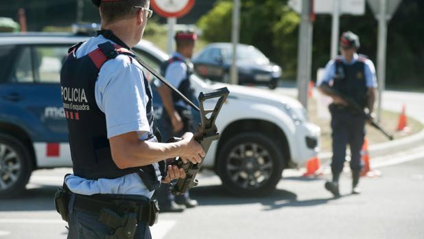 Control policial de los Mossos d'Esquadra