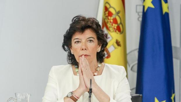 La portavoz Celaá, este viernes tras el Consejo de Ministros