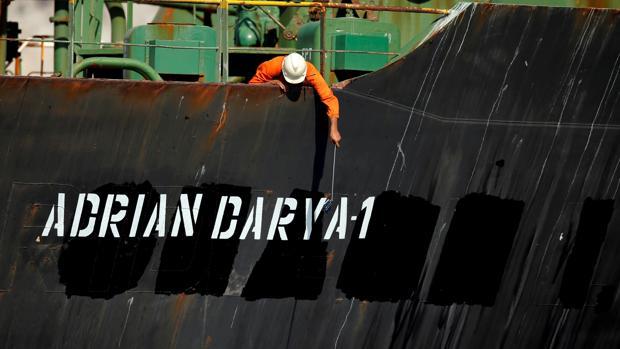 El nuevo nombre del petrolero iraní, (Grace 1), Adrian Darya 1, que realizó el cambio durante su retención en Gibraltar