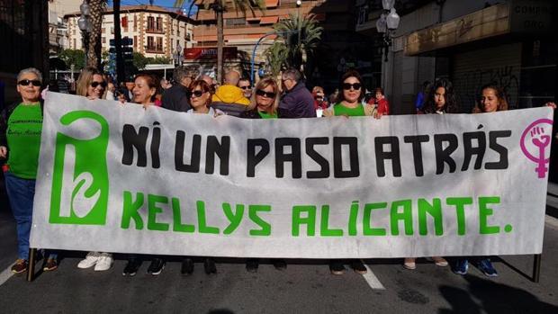 Manifestación de las Kellys en Alicante el pasado mes de diciembre