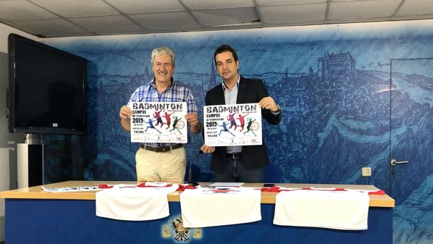 Pablo García, concejal de Cultura, junto con Javier Rodríguez durante la presentación del campus