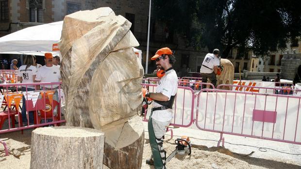 Imagen del último concurso de tallas de madera en motosierra celebrado en Toledo