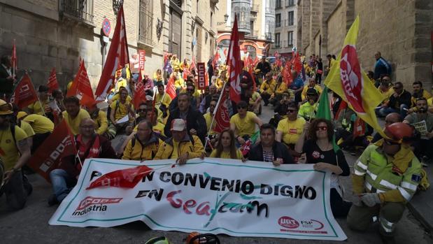 Una de las movilizaciones de Geacam en Toledo