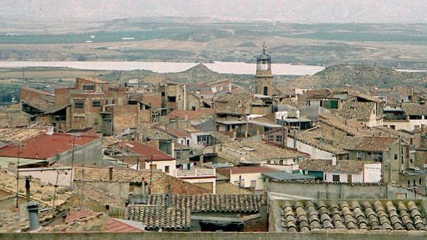 Vista de la localidad zaragozana de Caspe