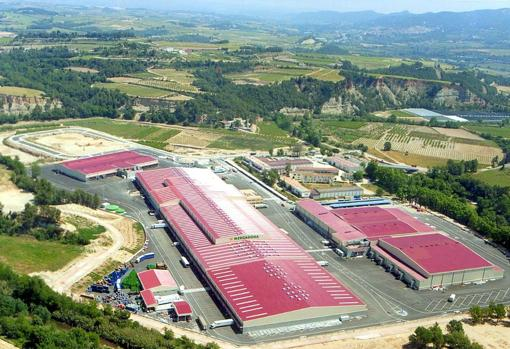 Vista aérea de las instalaciones logística de Mercadona en Sant Sadurní d'Anoia (Barcelona)