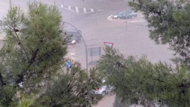Las calles de Ciudad Real se vieron inundadas en pocos minutos