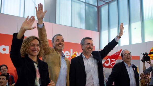 Miquel Iceta y Meritxell Batet en un acto del PSC