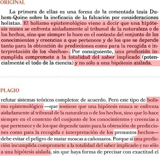 Plagio del manual de Manuel Cruz (pág. 342) a «Razones e intereses», de Carlos Solís (pág. 32)