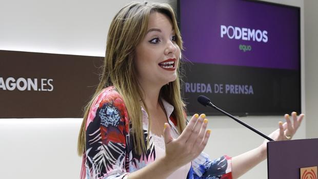Maru Díaz (Podemos), consejera de Universidad del Gobierno aragonés del socialista Javier Lambán
