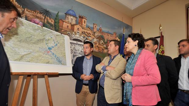 El presidente Page y la ministra Valerio, en su visita a Caudete