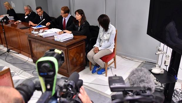 Ana Julia Quezada, acusada de la muerte del pequeño Gabriel, durante la sexta jornada del juicio