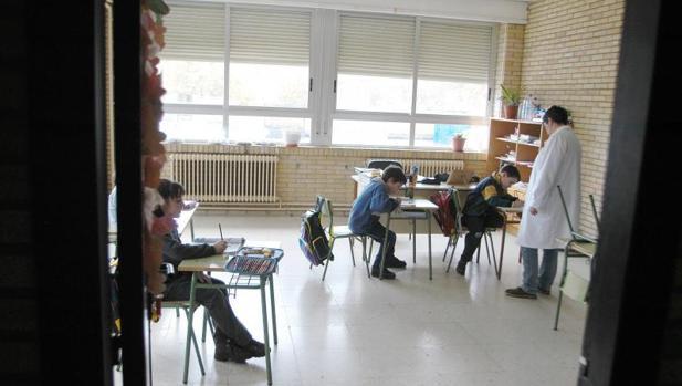 Alumnos en una escuela gallega