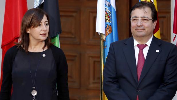 Francina Armengol y Guillermo Fernández Vara