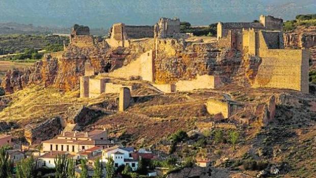 Vista del castillo de Zorita de los Canes, en Guadalajara