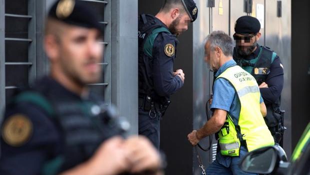 Registro que los agentes de la Guardi Civil llevaron a cabo el pasado lunes por los cdr
