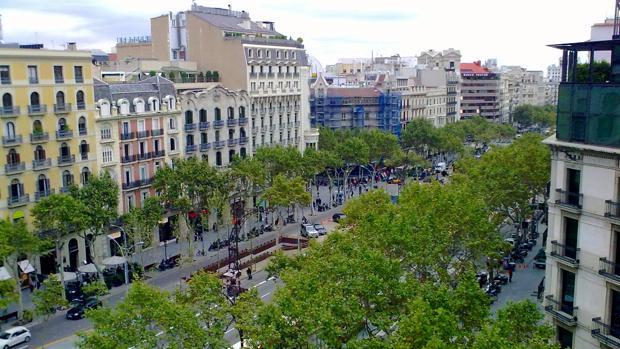 El paseo de Gràcia de Barcelona es una de las zonas más caras de la ciudad