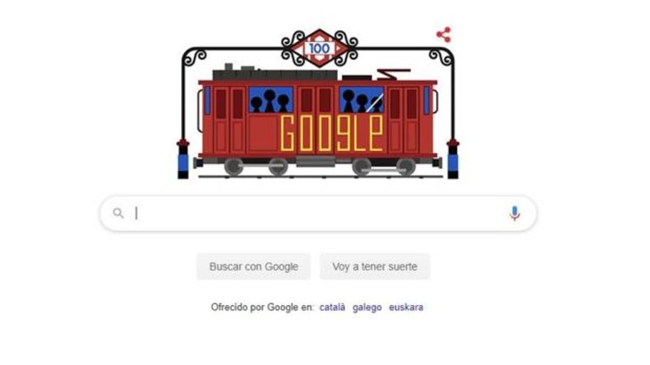 Google celebra con un doodle el centenario del Metro de Madrid