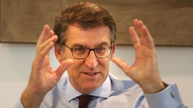 El presidente de la Xunta de Galicia, Alberto Núñez Feijóo, en la entrevista con ABC
