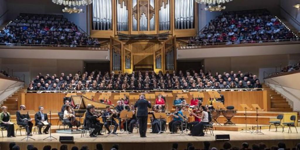 Cientos de cantantes aficionados entonan «El Mesías» de Händel en el Auditorio Nacional