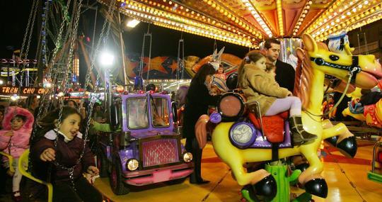 Imagen de archivo de la feria de atracciones de Valencia