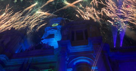 Imagen de archivo de la fiesta de Nochevieja en Valencia