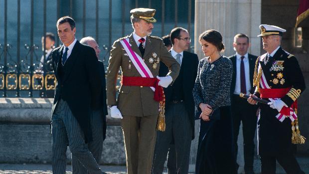 Los Reyes y el presidente del Gobierno en la última celebración de la Pascua Militar