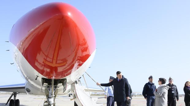 Pedro Sánchez toma el Falcon en Cataluña para desplaarse a Mallorca, el pasado jueves