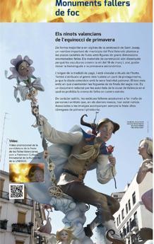 Detalle del catálogo de la exposición en la que se hace referencia a las Fallas