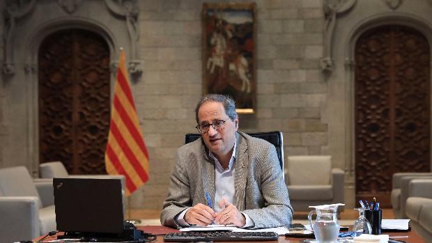 El presidente de la Generalitat, Quim Torra, en una comparecencia reciente