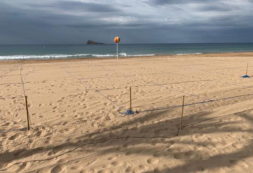 Imagen tomada este lunes en las playas de Benidorm