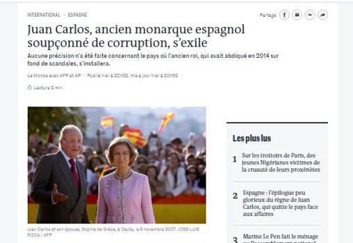Captura de la portada de Le Monde