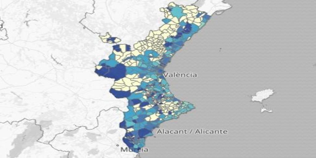Image Coronavirus en Valencia: mapa y listado de los municipios con más contagios en los últimos días