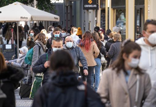 Imagen tomada este martes en el centro de Valencia
