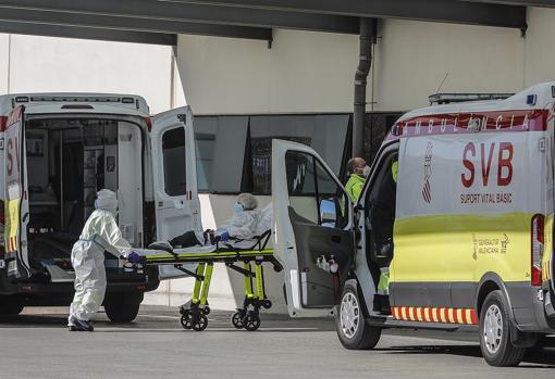 Imagen tomada este martes en un hospital de la ciudad de Valencia