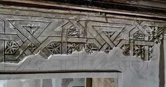Yeserías del siglo XV en el edificio Sillería 10