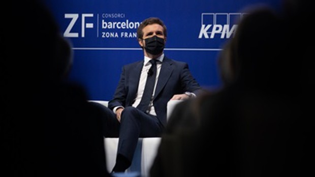 Casado reitera, ante los empresarios catalanes que defienden los indultos, que no los apoyará y crearán frustración