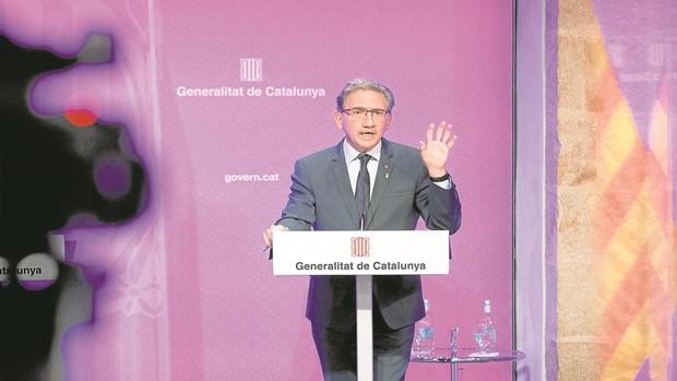 El conseller de Economía, Jaume Giró, esta semana durante la rueda de prensa posterior a la reunión del Govern