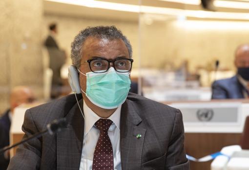 Imagen del director de la OMS, Tedros Adhanom Ghebreyesus