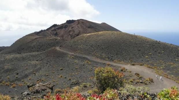 Volcán Teneguía en Cumbre Vieja, La Palma