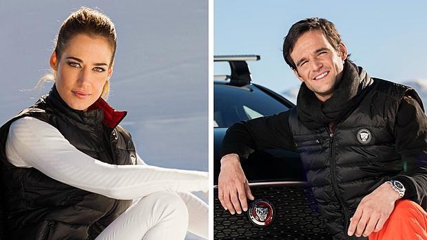 Ana y José María en Andorra, presentando el Jaguar XF y XE