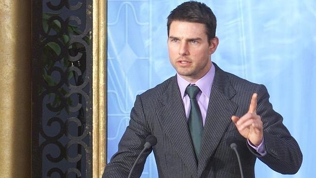Tom Cruise en un acto de la Cienciología