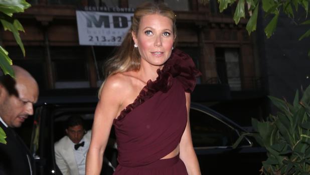 La actriz, a su llegada al Teatro de Los Ángeles