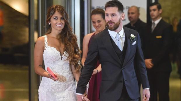 Antonella Rocuzzo y Leo Messi, el día de su boda
