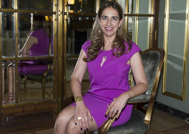 Lisi Fracchia, en la residencia del embajador de Argentina