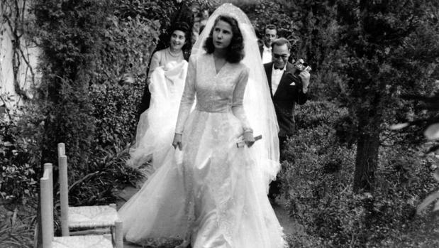 Cayetana de Alba el día de su boda con Luis Martínez de Irujo