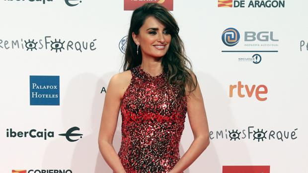 Penélope Cruz, durante la gala de los premios Forqué