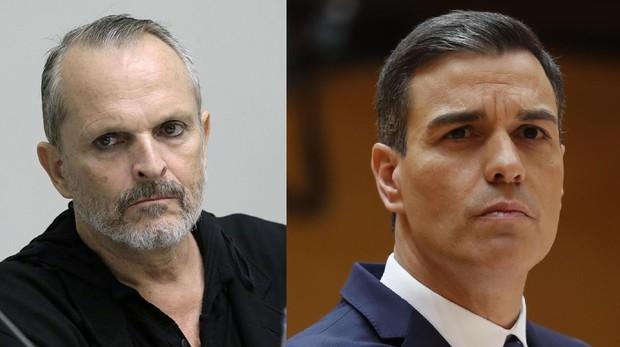 Miguel Bosé y Pedro Sánchez